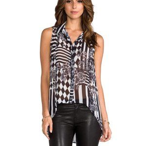 Bardot New Wave Sleeveless Button Front Blouse